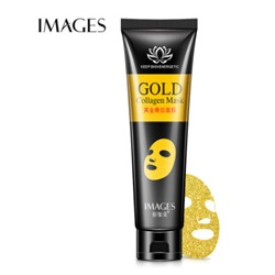 Маска - плёнка Images Gold Collagen Mask с биозолотом и коллагеном, 60 гр.