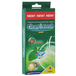 Таблетки для ПММ «Clean&Fresh» 5in1 4 штуки
